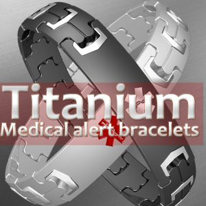 titanium medical alert bracelets